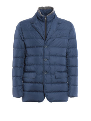 Herno: padded jackets - Matte nylon quilted padded jacket