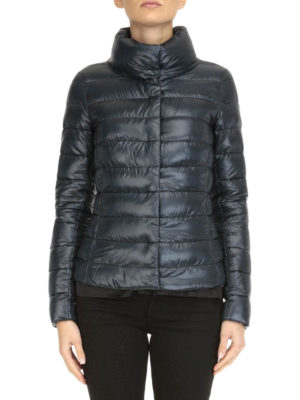 Herno: padded jackets online - Funnel neck quilted padded jacket