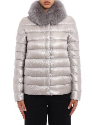Herno: padded jackets online - Fur trimmed padded jacket