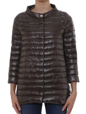 Herno: padded jackets online - Glossy nylon long padded jacket
