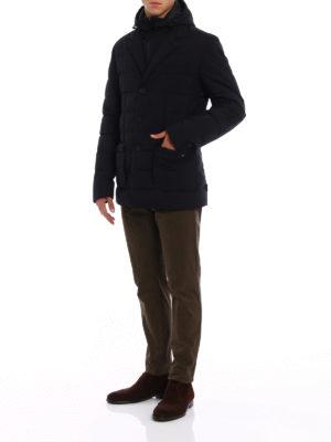 Herno: padded jackets online - Laminar black padded blazer