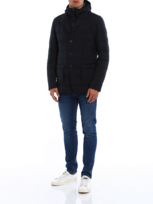 Herno: padded jackets online - Laminar padded double front blazer