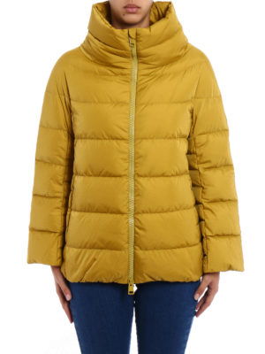 Herno: padded jackets online - Lightweight yellow puffer jacket