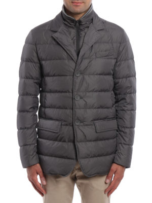 Herno: padded jackets online - Matte nylon quilted padded jacket