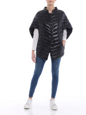 Herno: padded jackets online - Padded oversized cape