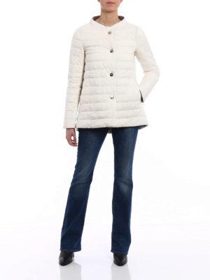Herno: padded jackets online - Reversible flared padded jacket