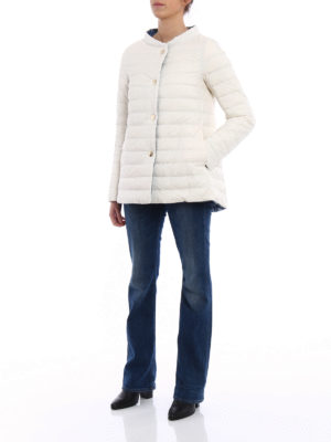 Herno: padded jackets online - Reversible white puffer jacket