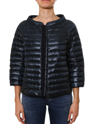 Herno: padded jackets online - Sequin trimmed padded jacket