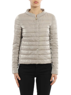 Herno: padded jackets online - Shimmering cotton padded jacket