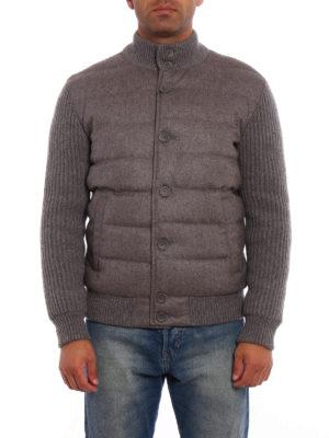 Herno: padded jackets online - Soft cashmere padded bomber jacket