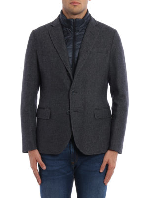 Herno: padded jackets online - Wool blazer with double front