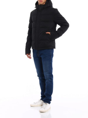 Herno: padded jackets online - Wool blend padded jacket