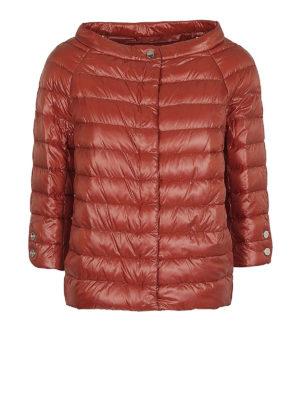 HERNO: giacche imbottite - Piumino nylon ultraleggero arancio