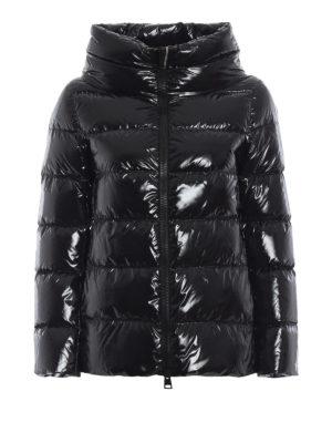 HERNO: giacche imbottite - Piumino nero in nylon lucido