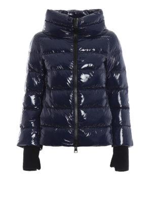 HERNO: giacche imbottite - Piumino blu in nylon lucido