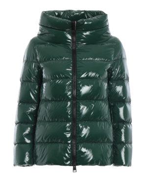 HERNO: giacche imbottite - Piumino verde in nylon lucido