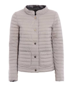 Herno: padded jackets - Reversible quilted down jacket