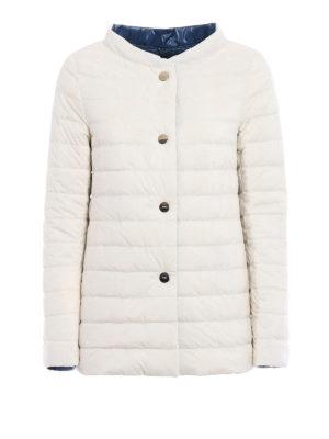 Herno: padded jackets - Reversible white puffer jacket