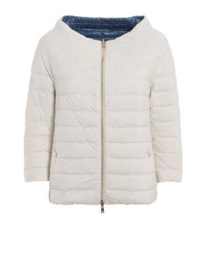 Herno: padded jackets - Reversible white&blue padded jacket
