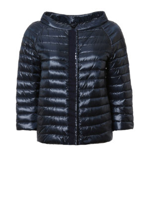 Herno: padded jackets - Sequin trimmed padded jacket