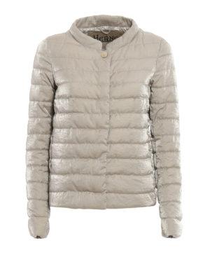 Herno: padded jackets - Shimmering cotton padded jacket