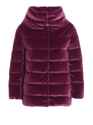 HERNO: giacche imbottite - Piumino in velluto cangiante fucsia