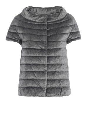 HERNO: giacche imbottite - Piumino a maniche corte in ciniglia