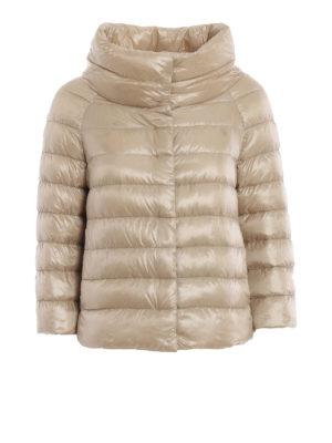 HERNO: giacche imbottite - Piumino Sofia in nylon beige