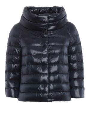 HERNO: giacche imbottite - Piumino Sofia in nylon blu