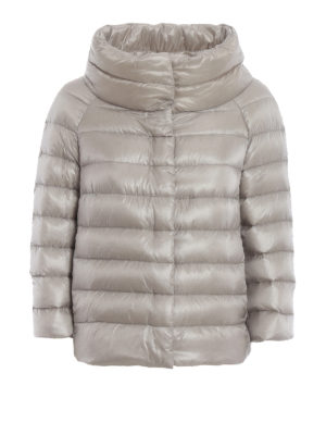 HERNO: giacche imbottite - Piumino trapuntato Sofia in nylon grigio