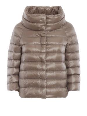 HERNO: giacche imbottite - Piumino Sofia in nylon grigio perla