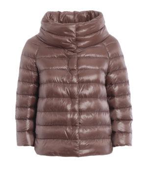HERNO: giacche imbottite - Piumino Sofia in nylon marrone rosato