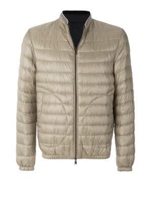 HERNO: giacche imbottite - Piumino reversibile collo a righe