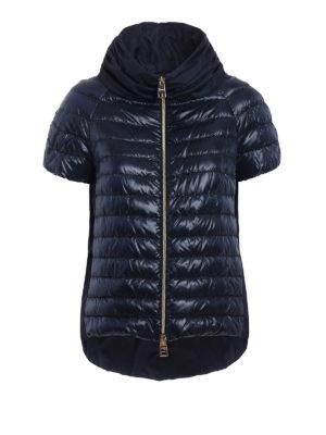 Herno: padded jackets - Taffeta back blue padded jacket