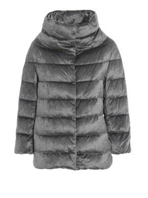 HERNO: giacche imbottite - Cappa ciniglia resistente all'acqua