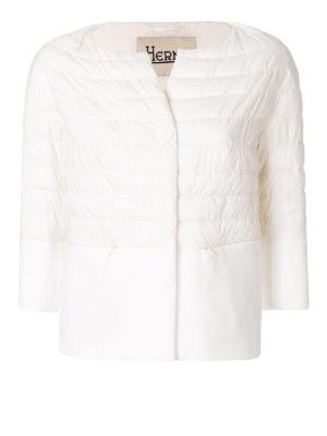 HERNO: giacche imbottite - Piumino bianco bon-ton impermeabile