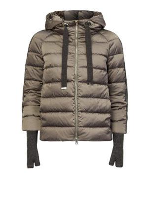 HERNO: giacche imbottite - Piumino con bande lurex in raso tecnico