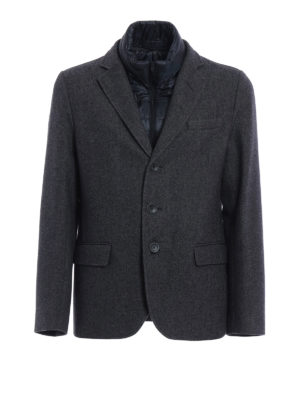 Herno: padded jackets - Wool blazer with double front