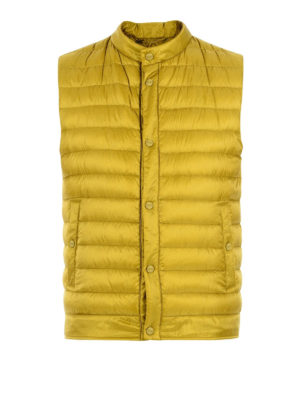 Herno: padded jackets - Yellow sleeveless puffer jacket