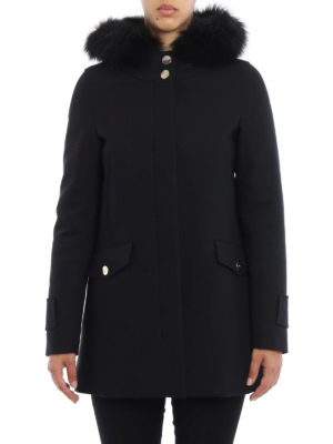 Herno: parkas online - Fur inserts technical fabric parka