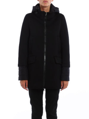 Herno: parkas online - Scuba and nylon hooded parka