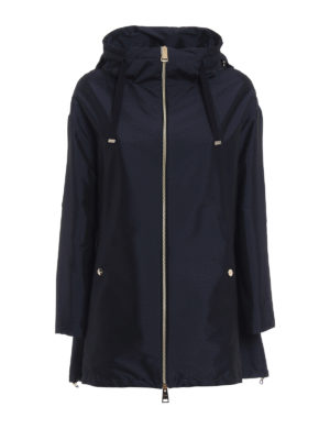 Herno: parkas - Pull-out hood blue parka