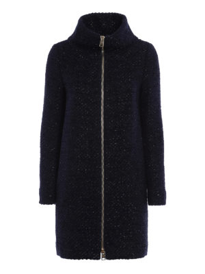 Herno: short coats - Boucle padded coat