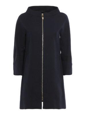 Herno: short coats - Cotton zipped overcoat