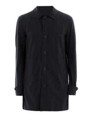 HERNO: cappotti corti - Cappottino in nylon blu scuro