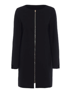 Herno: short coats - Grosgrain detailed cotton coat