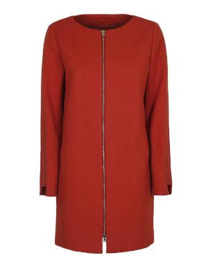 HERNO: cappotti corti - Cappotto in cotone con gros grain