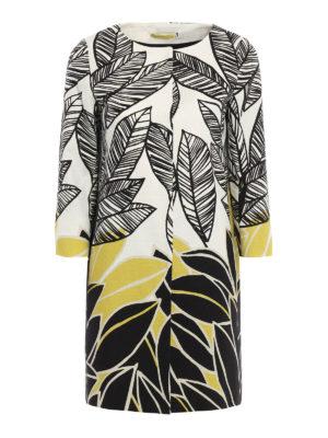 Herno: short coats - Leaf print cotton overcoat