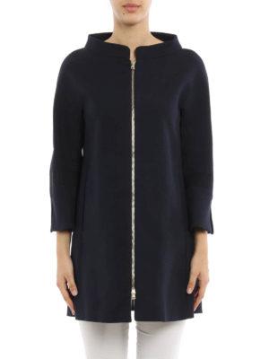 Herno: short coats online - Cotton zipped overcoat