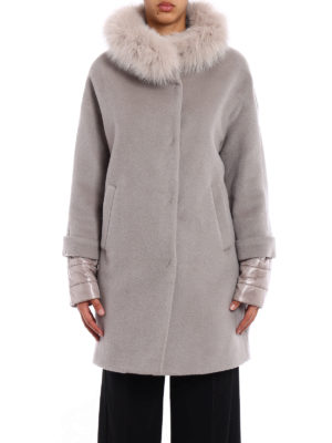 Herno: short coats online - Fur trimmed padded coat